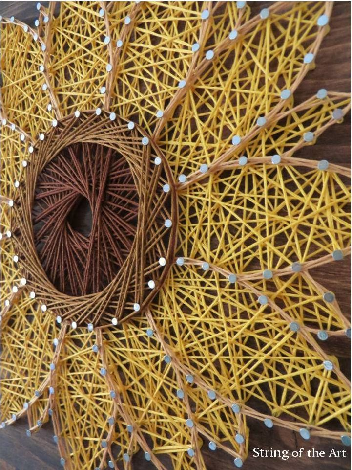 nice String Art Sunflower - String Art DIY Kit - DIY Crafts - Home Decor - DIY Decor ... by http://www.danaz-home-decor-ideas.xyz/diy-crafts-home/string-art-sunflower-string-art-diy-kit-diy-crafts-home-decor-diy-decor/