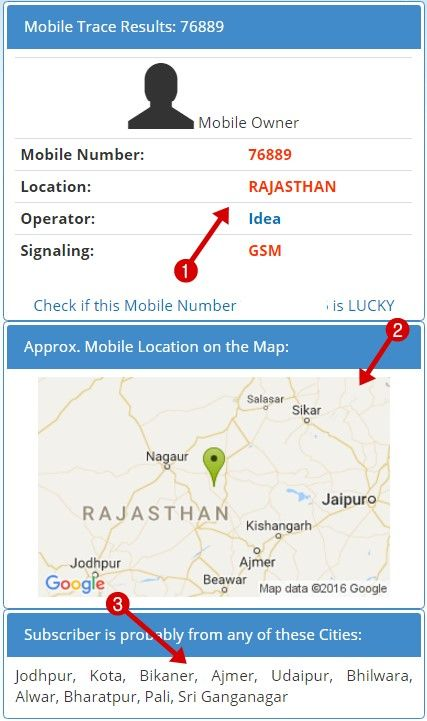 mobile number trace results