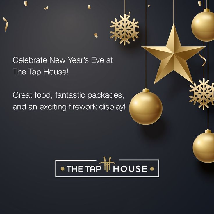 Welcome in 2018 with a bang at The Tap House this New Year's Eve! – Interact…