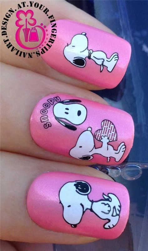 NAIL ART WATER TRANSFERS DECALS STICKERS SET SNOOPY FIGURE HEAD LOVE HEART #498 | eBay