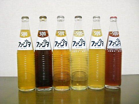 ファンタ : オレンジ/グレープ/アップル/ゴールデングレープ/レモン/フルーツパンチ