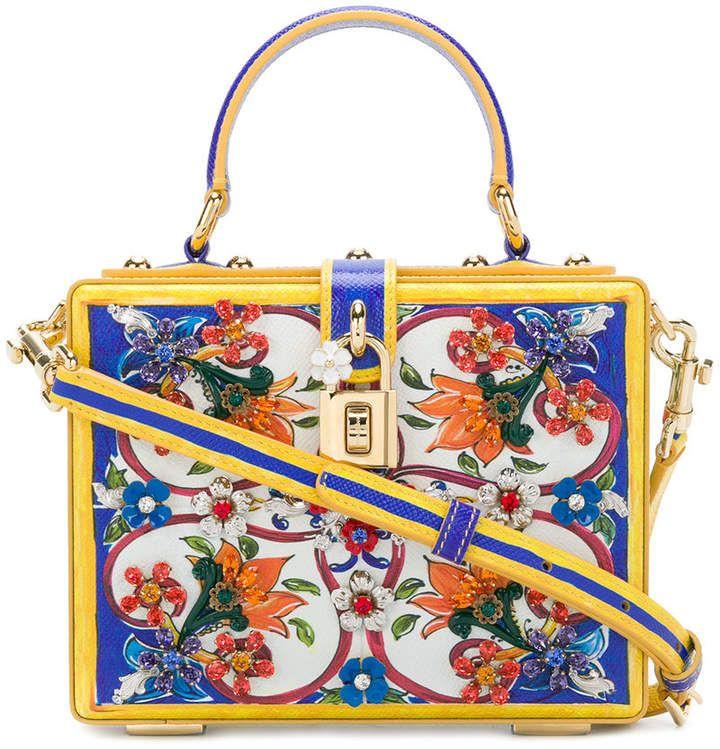 fbc500966f65 Dolce   Gabbana Majolica Box Bag
