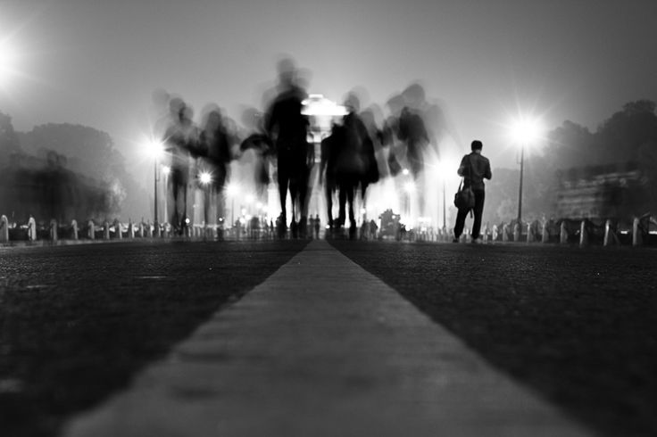 black and white; street photography; long exposure