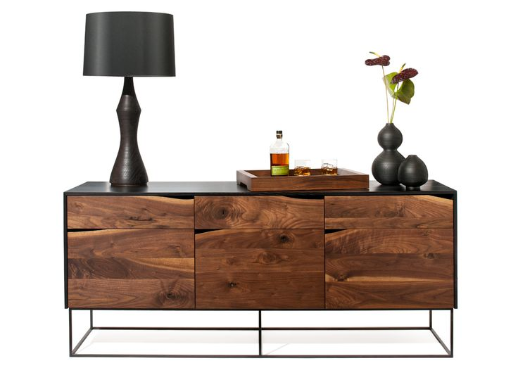 rustic modern credenza : http://woodsport.net/credenza/ -   various sizes and woods; adaptable. shown in ebonized ash with walnut, or white lacquered ash with yellow birch; steel base or cast bronze feet.