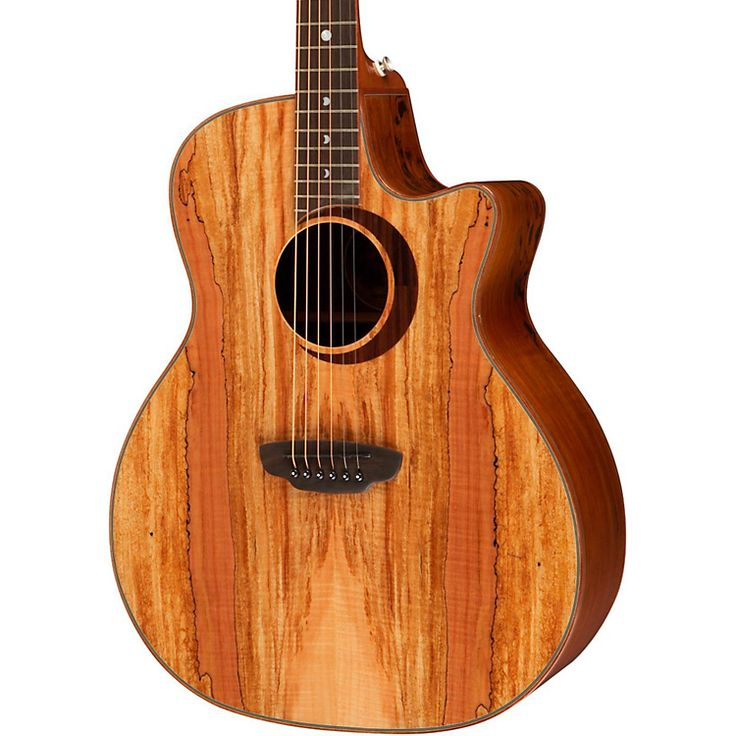 Luna guitars woodland series spalted maple acoustic