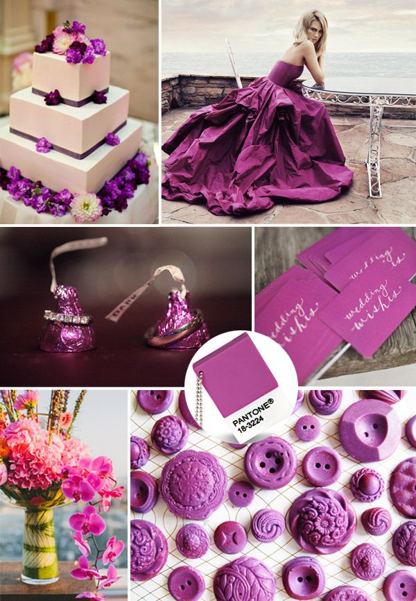 Pantone Color of the Year 2014-Radiant Orchid Wedding ...
