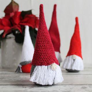 Рождественские гномы крючком описание на русском