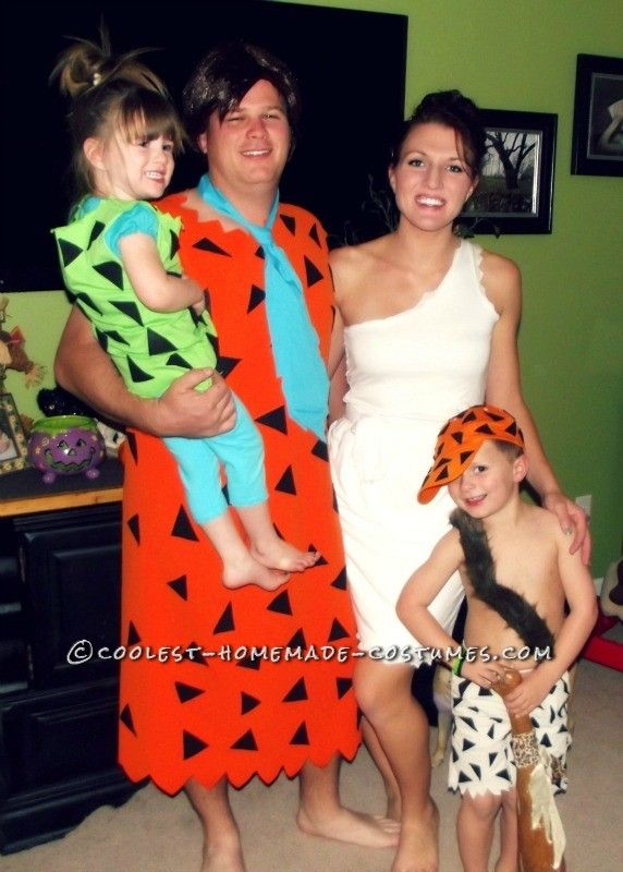 Handmade Flintstone Family Costumes ...This website is the Pinterest of costumes