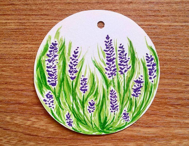 Lavender field  #spring #art #drawing #lavender #purple #flower