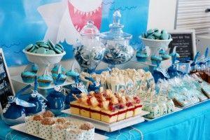 Oscar's Shark Party Dessert Table