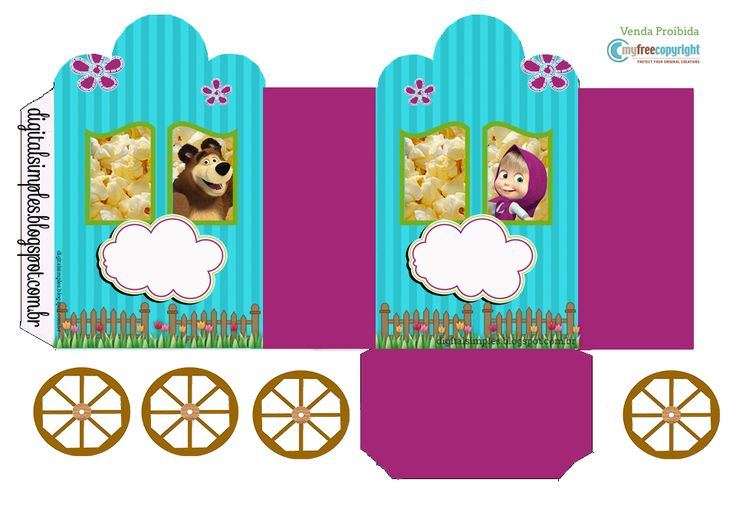 Agora o desenho da TV Masha e o Urso, irá fazer parte da festa de Aniversário da criançada com esse Kit Digital Free.