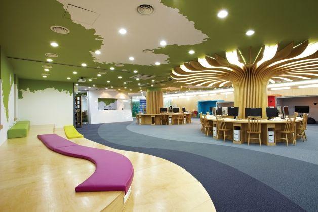 Tree. Alice@Wonderland Multimedia Library at Mokwon University, Daejeon/Korea, by designVOM.