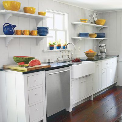 Read this before you remodel a kitchen open shelving for Off the shelf kitchen units