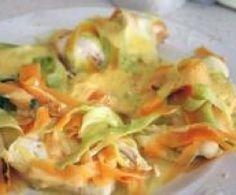 Blancs de poulet aux tagliatelles de carottes et courgettes by nonu2b on www.espace-recettes.fr