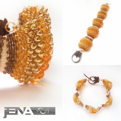 Bracelet WAVE in gold made by JENA