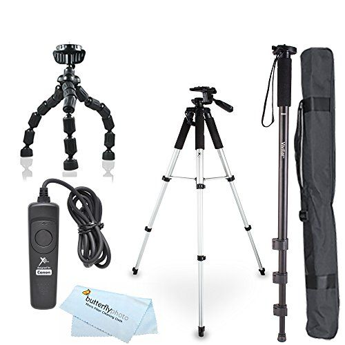 ButterflyPhoto Tripod Accessory Bundle Kit for Canon Digital SLR Camera (5 items)