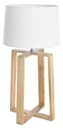 Wooden lamp base