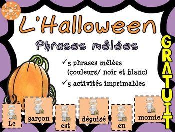 Ce produit est inclus dans l'Ensemble sur l'Halloween! Cliquez-ici!Intgrations:- Lecture - Nouveau vocabulaire- criture (structures de phrases, ponctuation)- Collaboration (les cartes de mots peuvent tre mises dans un centre et tre joues en groupes)- Centre de littratie - 5 au quotidien Vous allez trouver 2 documents qui portent sur le thme de l'Halloween:1. 5 phrases mles - Chaque mot de chaque phrase est sur une carte.