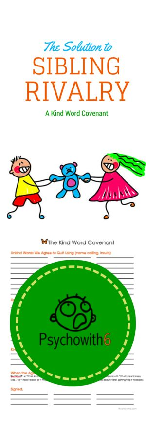 The Solution to Sibling Rivalry: The Kind Word Covenant. The idea that can transform your family life.