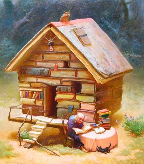 #BuenosDías las casas llenas de #libros son las que sostienen el mundo