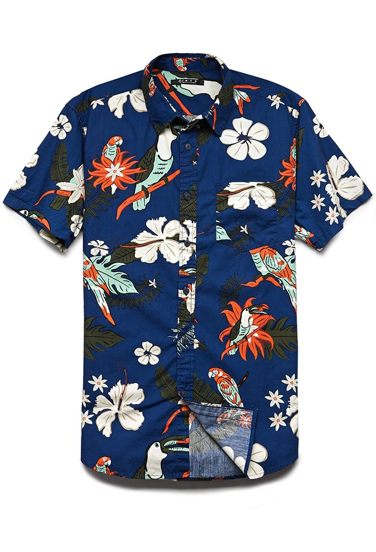 Tropical Print Cotton Shirt | 21 MEN #SummerForever #21Men