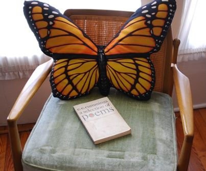 oversized butterfly pillow