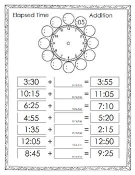 **Free***  elapsed time worksheets