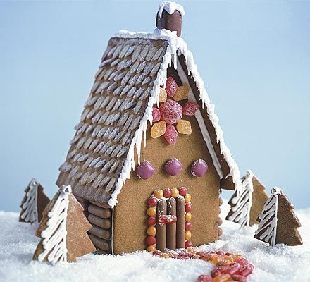 Creative gingerbread house templates