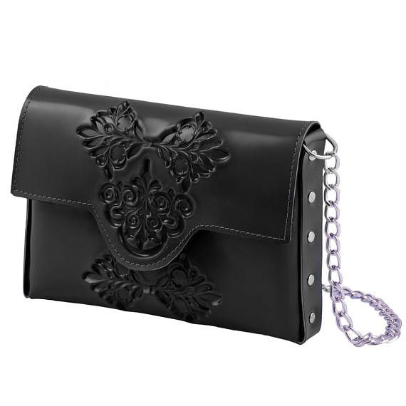 Fab handbag / small black clutch purse / urban bag design /
