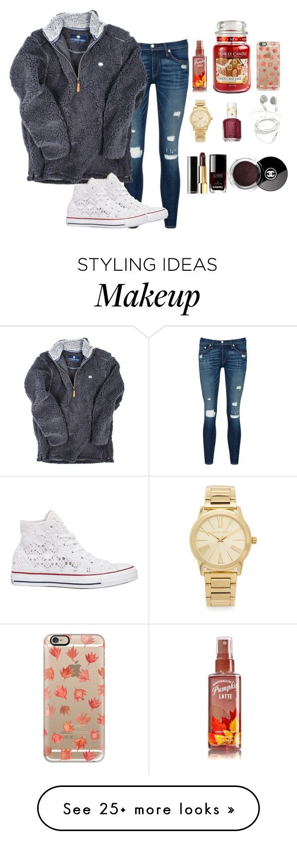 """Read d ..."" by fashionworldoflove on Polyvore featuring rag & bone/JEAN, Converse, Casetify, Yankee Candle, Michael Kors, Essie, Chanel, women's clothing, women and female"