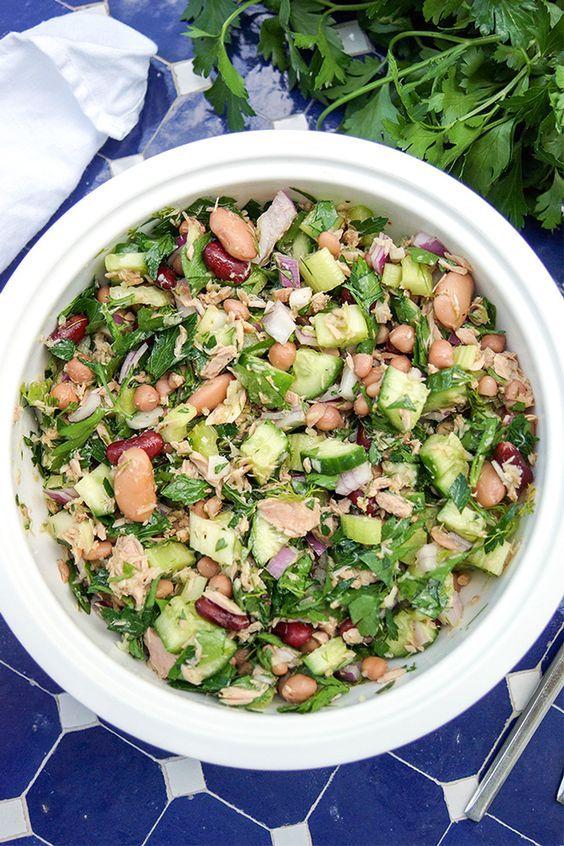 Die besten 25+ Gemischter bohnensalat rezepte Ideen auf Pinterest - leichte mediterrane k che rezepte