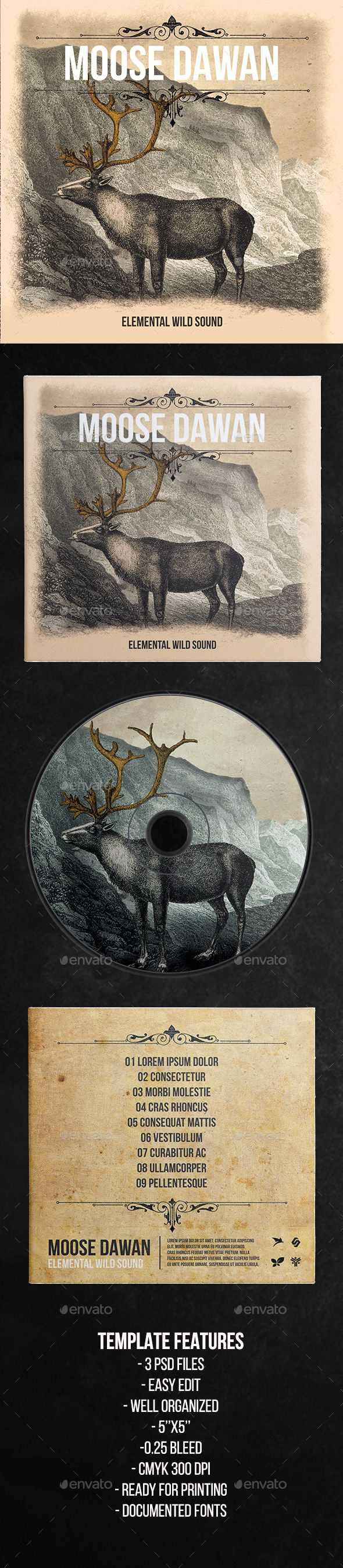 Elemental Wild Sound  CD Cover Artwork Template — Photoshop PSD #orange #cover • Download ➝ https://graphicriver.net/item/elemental-wild-sound-cd-cover-artwork-template/19209454?ref=pxcr