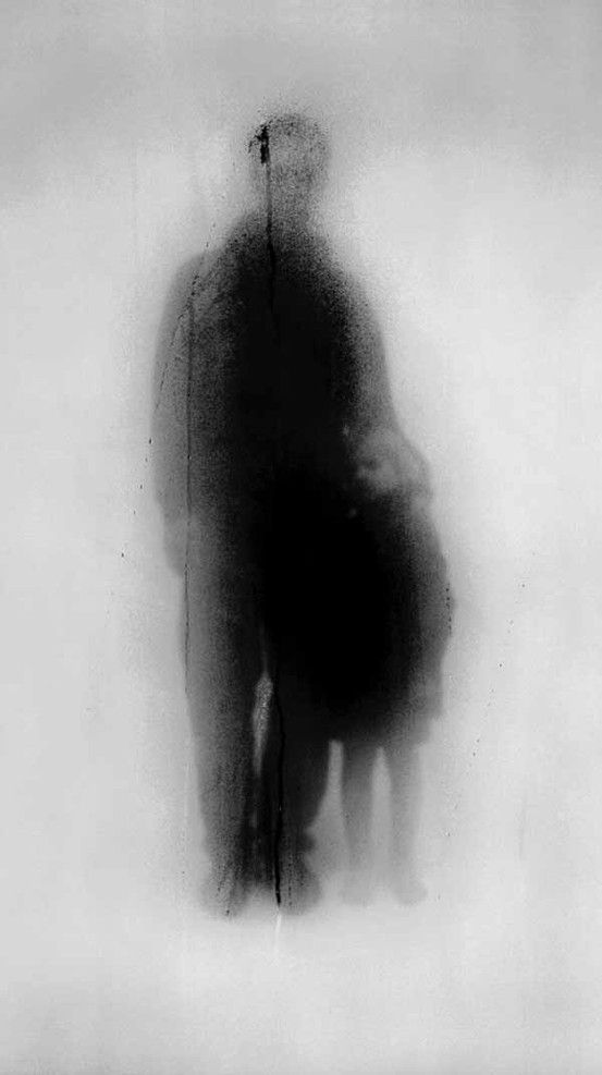 John Batho, photo from his Present and Absent series of black and white pieces (Présents et Absents, c. 1990)
