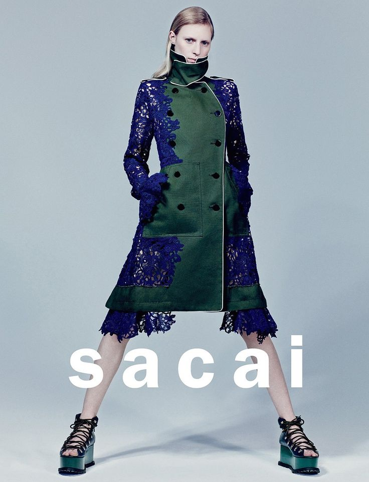 ☆ Julia Nobis | Photography by Craig McDean | For Sacai Campaign | Spring 2015 ☆ #Julia_Nobis #Craig_McDean #Sacai #2015