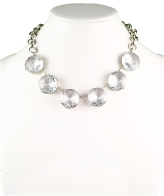 Crystal statement necklace, jewelry