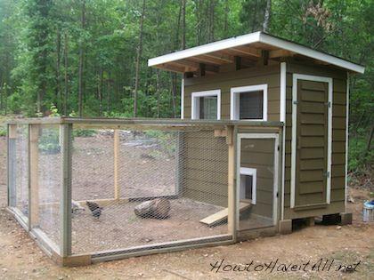 How to build a chicken coop h hner h hnerstall und for Garten pool coop