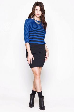Фото платье женское цвет темно-синий (52000317) размеры XS, S, M, L. Большое фото. Вид спереди.