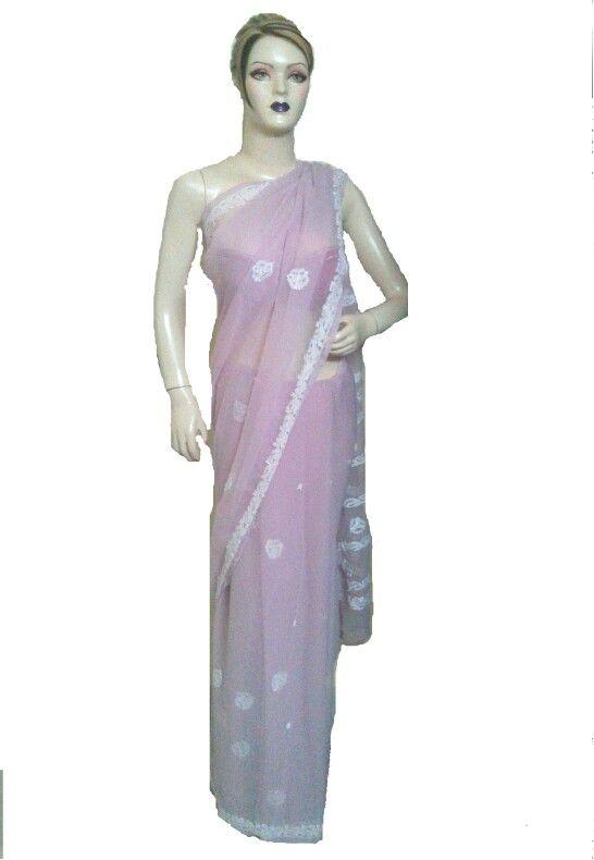 Pink with Chikankari