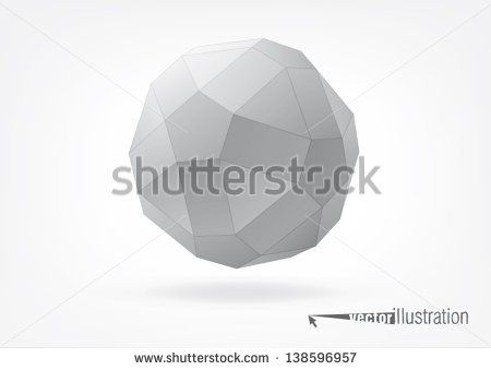 small rhombicosidodecahedron for graphic design, you can change the color keeping the same form
