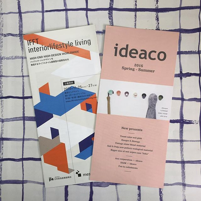 ideaco IFFT interior lifestyle living #ILS#ideaco#invitation#design#show#tokyo#new#interior