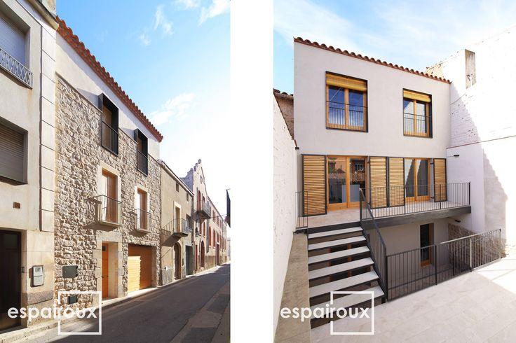 Fachada principal restaurada y nueva fachada posterior de - Vivienda unifamiliar entre medianeras ...