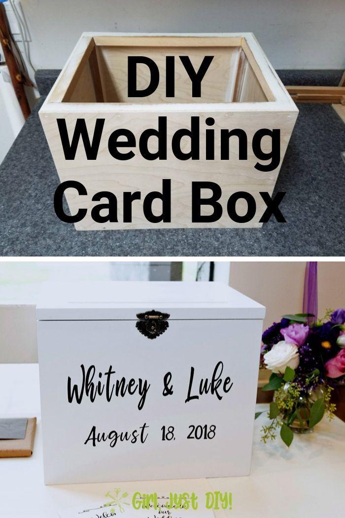 Diy Wedding Card Box Tutorial Wedding Card Diy Card Box Wedding Diy Card Box Wedding