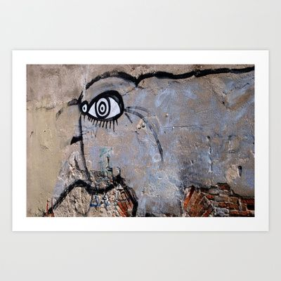 There's a monster on the wall Art Print by Plasmodi - $16.00