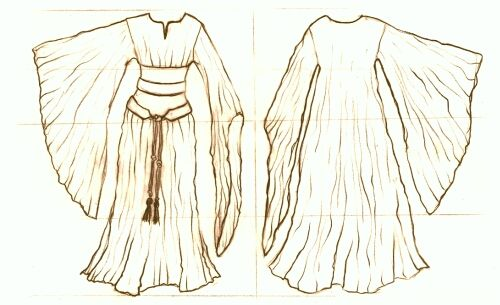Medieval Clothing and Footwear- 12th Century Bliaut