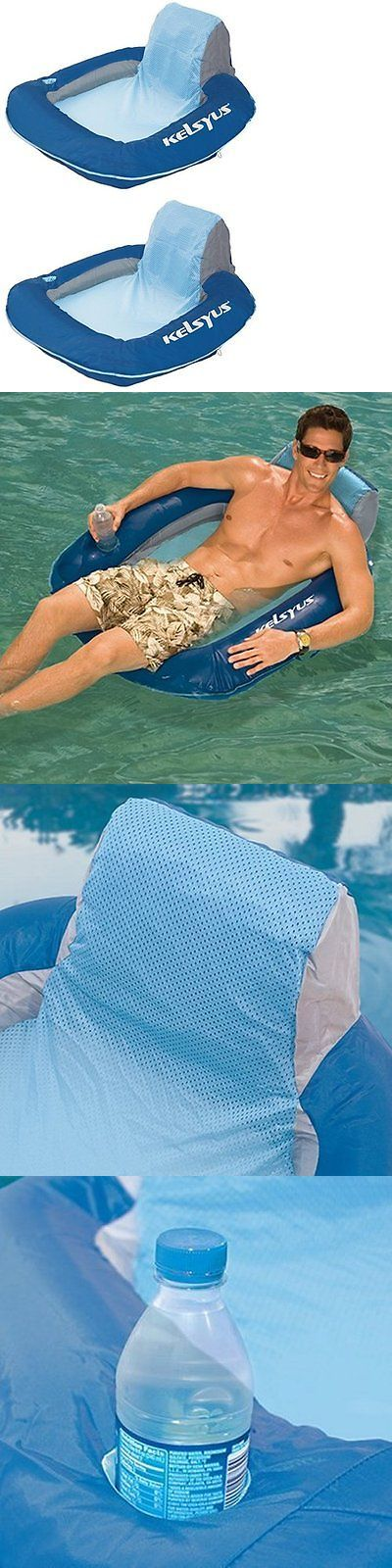 Floats and Rafts 181055: Kelsyus Floating Pool Lounger Inflatable Chair - Blue (Set Of 2) | 80035 -> BUY IT NOW ONLY: $52.99 on eBay!