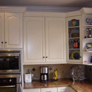 White Corner Cabinet For Kitchen