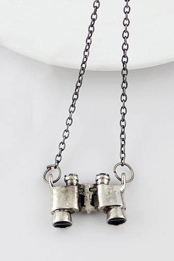 Silver Telescope Chain Necklace - Sheinside.com