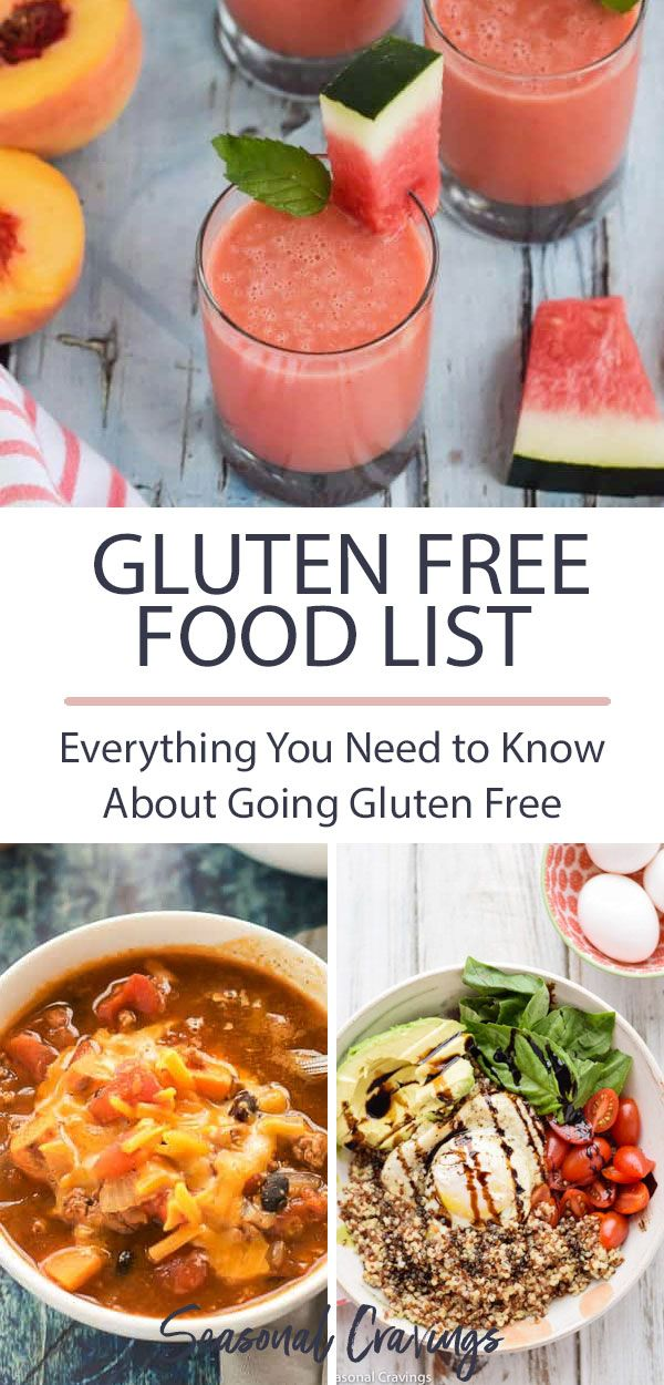 Printable Gluten Free Food List With Pdf Seasonal Cravings Gluten Free Food List Whole Food Recipes Healthy Chicken Recipes