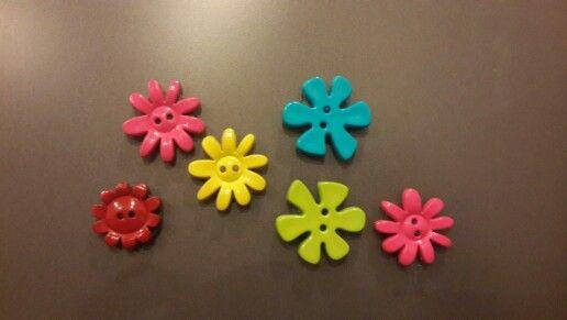 Button fridge magnets