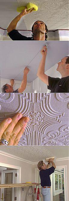 Как клеить обои на потолок своими руками | Ремонт квартиры своими руками